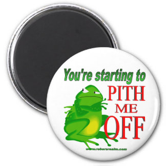 Pithed off frog 2 2 inch round magnet