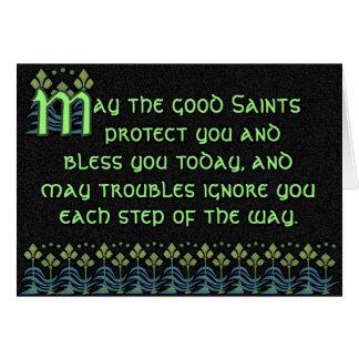 Pithy Irish Blessing Card - Customizable on inside