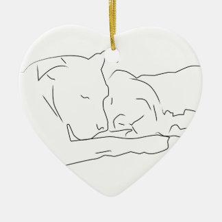 Pitifully in Love Ceramic Ornament