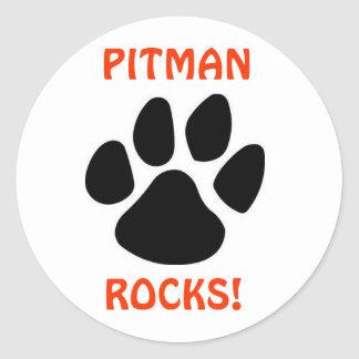 PITMAN ROCKS Circle Sticker