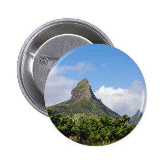 Piton de la Petite mountain in Mauritius panoramic 2 Inch Round Button