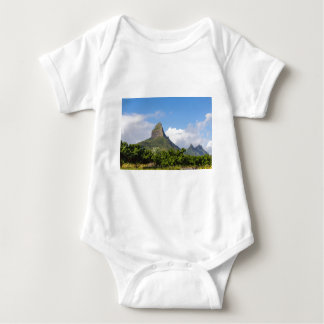 Piton de la Petite mountain in Mauritius panoramic Baby Bodysuit