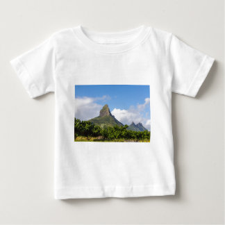 Piton de la Petite mountain in Mauritius panoramic Baby T-Shirt