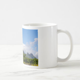 Piton de la Petite mountain in Mauritius panoramic Coffee Mug