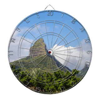 Piton de la Petite mountain in Mauritius panoramic Dartboard
