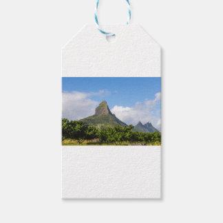 Piton de la Petite mountain in Mauritius panoramic Gift Tags