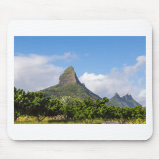 Piton de la Petite mountain in Mauritius panoramic Mouse Pad