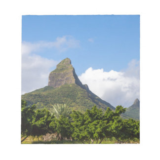 Piton de la Petite mountain in Mauritius panoramic Notepad