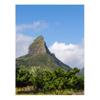 Piton de la Petite mountain in Mauritius panoramic Postcard