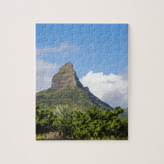 Piton de la Petite mountain in Mauritius panoramic Puzzle