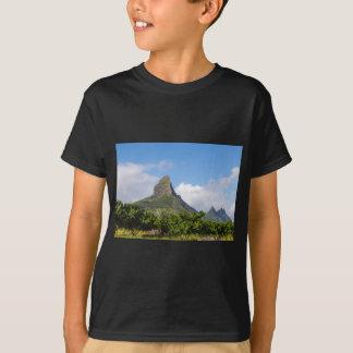 Piton de la Petite mountain in Mauritius panoramic T-Shirt