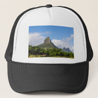Piton de la Petite mountain in Mauritius panoramic Trucker Hat