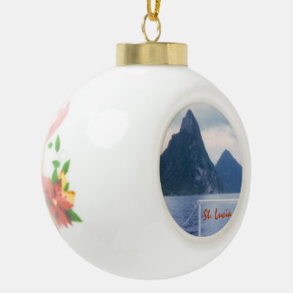 Pitons from the Sea Ceramic Ball Christmas Ornament