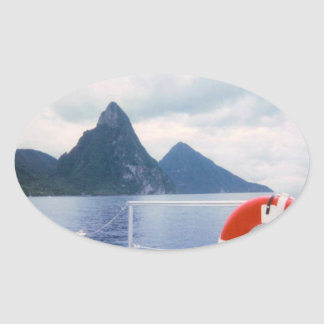Pitons from the Sea Sticker