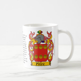 Pitre, the Origin, the Meaning and the Crest Coffee Mug