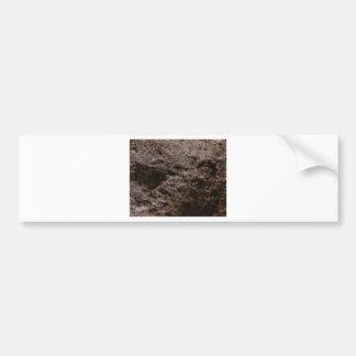 pitted rock texture bumper sticker