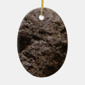 pitted rock texture ceramic ornament