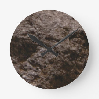 pitted rock texture round clock