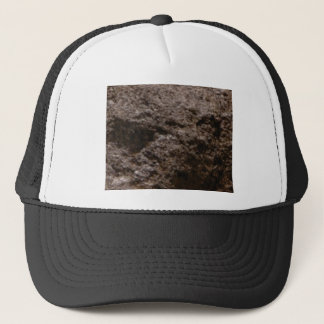 pitted rock texture trucker hat