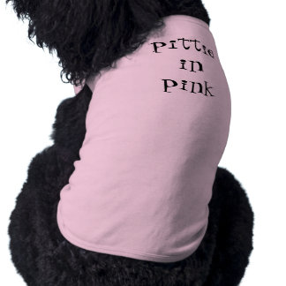 pittie in pink shirt