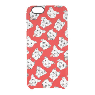 """Pittie Pittie Please!"" Dog Drawing Pattern Clear iPhone 6/6S Case"