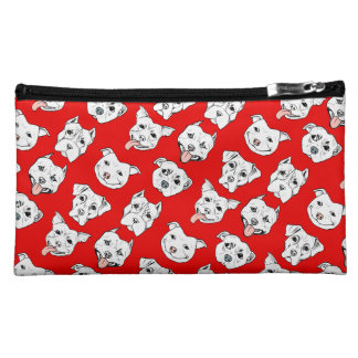 """Pittie Pittie Please!"" Dog Drawing Pattern Cosmetic Bag"