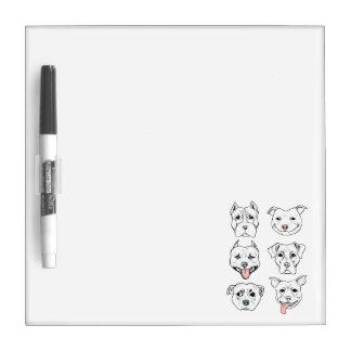 """""""Pittie Pittie Please!"""" Dog Drawing Pattern Dry Erase Board"""