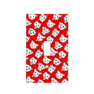"""""""Pittie Pittie Please!"""" Dog Drawing Pattern Light Switch Cover"""