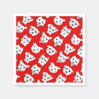 """Pittie Pittie Please!"" Dog Illustration Pattern Paper Napkin"