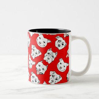 Pittie Pittie Please! Two-Tone Coffee Mug