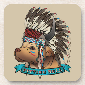 Pitting Bull Drink Coaster
