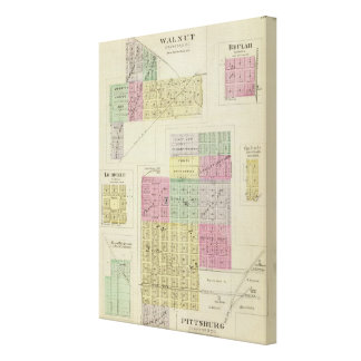 Pittsburg, Walnut, Beulah, and Lichfield, Kansas Gallery Wrapped Canvas