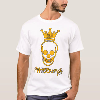Pittsburgh 412 Skull Shirt - Black and Gold
