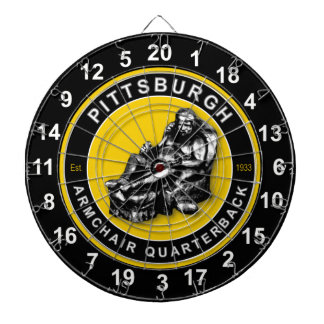 Pittsburgh Armchair Quarterback Football Dartboard