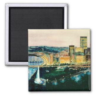 Pittsburgh at Dusk Magnet