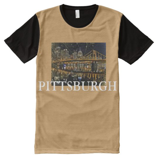 PITTSBURGH BRIDGES ALLOVER CUSTOM TEE SHIRT