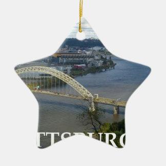 pittsburgh ceramic star ornament