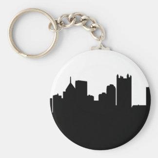 Pittsburgh City Skyline Basic Round Button Keychain