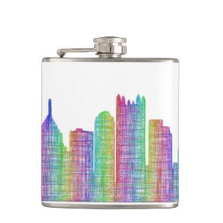 Pittsburgh city skyline flask