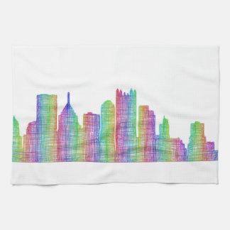 Pittsburgh city skyline kitchen towels