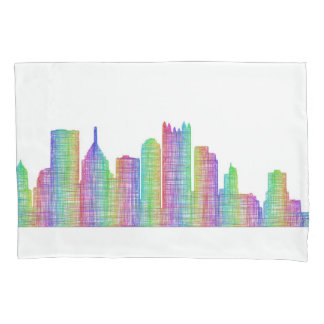 Pittsburgh city skyline pillowcase
