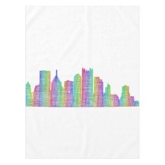 Pittsburgh city skyline tablecloth