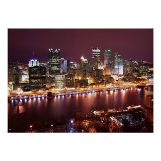 Pittsburgh Cityscape Poster