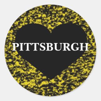 Pittsburgh Heart Classic Round Sticker