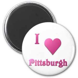 Pittsburgh -- Hot Pink Magnet