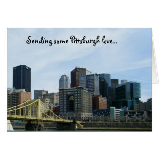 Pittsburgh love notecards card