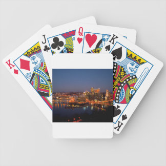 Pittsburgh Night Skyline Bicycle Playing Cards