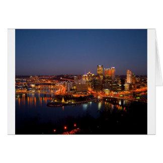 Pittsburgh Night Skyline Card