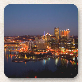 Pittsburgh Night Skyline Coaster