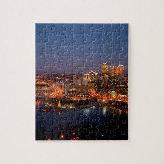 Pittsburgh Night Skyline Jigsaw Puzzle
